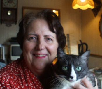 Kathleen R. Harris with cat